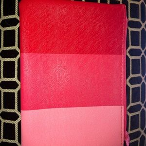 Pink and red make up bag